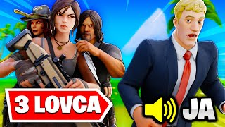 Fortnite Igrac VS 3 Lovca IZAZOV