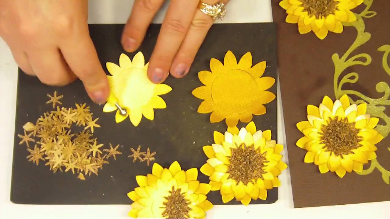 How to make a 3d paper sunflower4 youtube mightylinksfo