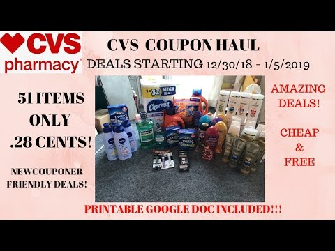 CVS Coupon Haul Deals Starting 12/30/18~51 Items Only 28 Cents ❤️Tons of FREE & Super Cheap Products