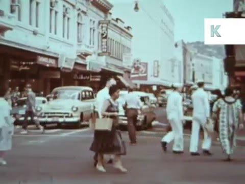 1950s Honolulu, People, Drive in Diner, Hawaii