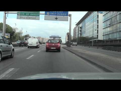 Driving In France-Neuilly Sur Seine-Paris (Periph.)-Orly (Aeroport)-Paray Vieille Poste