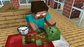 Monster School : Baby Zombie was Homeless - Minecraft Animation