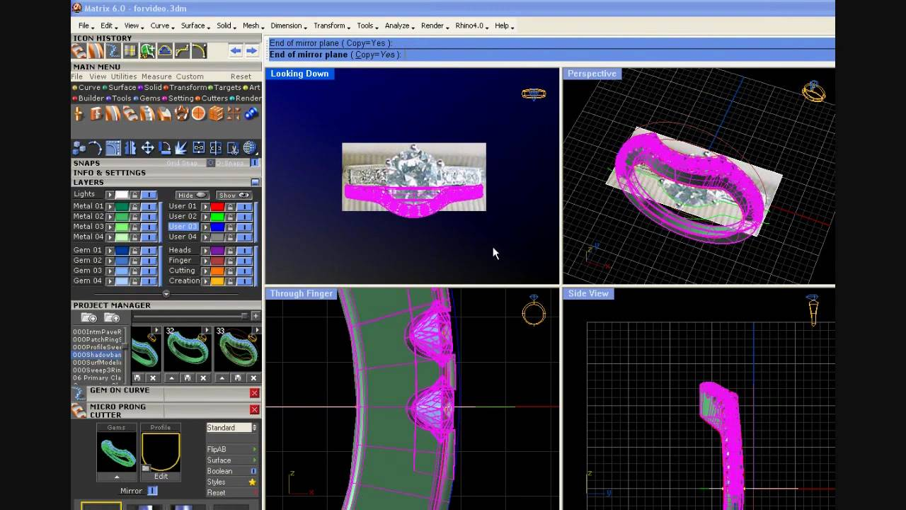 Matrix Cad Cam Program Youtube