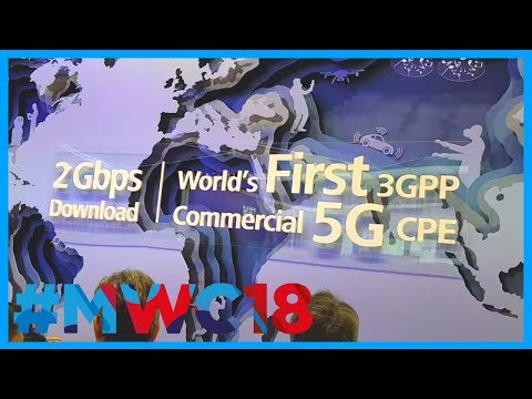 HUAWEI has FIRST commercially available 5G DEVICES in 2018! Mifi, Vehicle, Mate10 at #MWC18