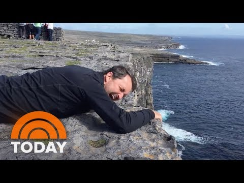 Dad With Fear Of Heights Is Determined To See The View From Irish Cliffs | TODAY