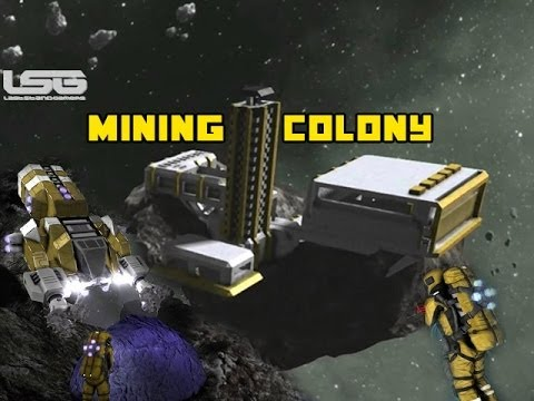 Space Engineers - Mining Colony Resource Transport & Storage Ships Part 7