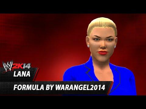WWE 2K14: Lana CAW Formula By WARANGEL2014