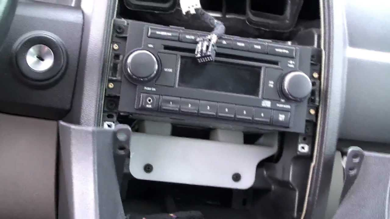 maxresdefault chrysler 300 dash bezel removal and center console removal youtube Jensen Car Stereo Wiring Harness at eliteediting.co