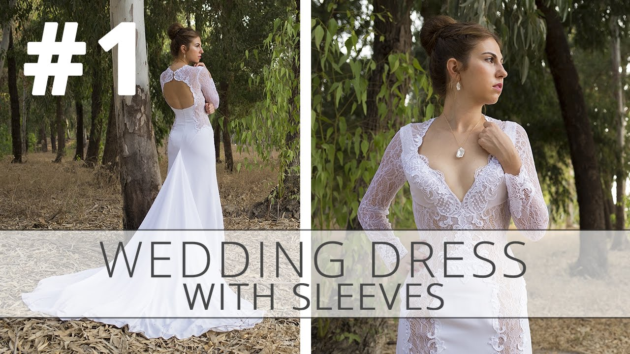 How to sew a wedding dress with sleeves? Sewing tutorial. Part 1 ...