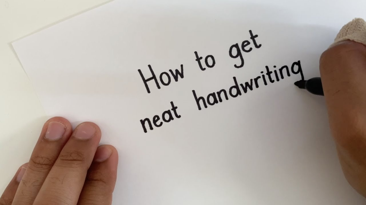 How to get NEAT Handwriting - Straight Lines in MINUTES!