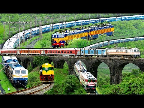 EXPRESS Trains | MUMBAI - PUNE | BHOR Ghats | Indian Railways -2