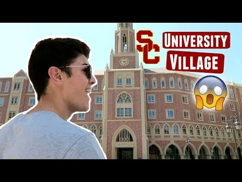 FIRST TIME VISITING THE USC UNIVERSITY VILLAGE!!