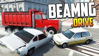 Проверяем Мифы! Проезд между машинами уменьшает урон | BeamNG.drive