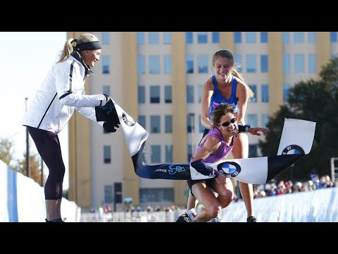 High school student carries collapsed marathoner to victory