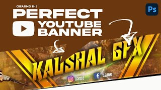 Best Top New YouTube Channel Art PSD | Kaushal Gfx | Photoshop Pro Tutorial #9