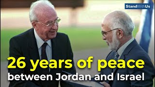 26 years of peace between Jordan and Israel