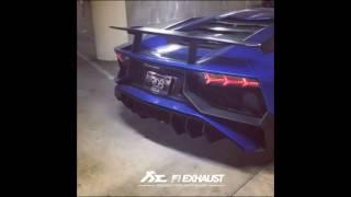 Lamborghini Aventador LP750-4 with Fi Exhaust spit fire