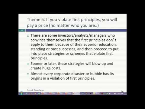 Session 2 (MBA): The Objective in Corporate Finance