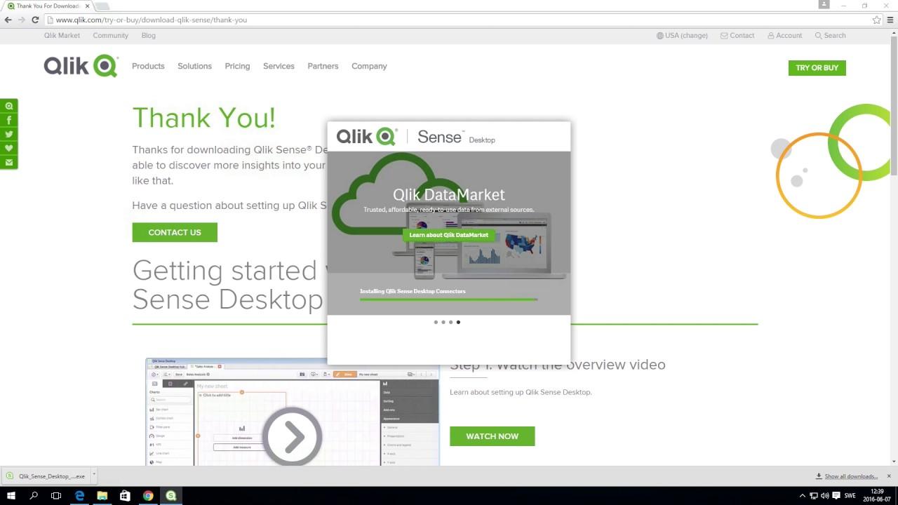 Getting started with Qlik Sense Desktop