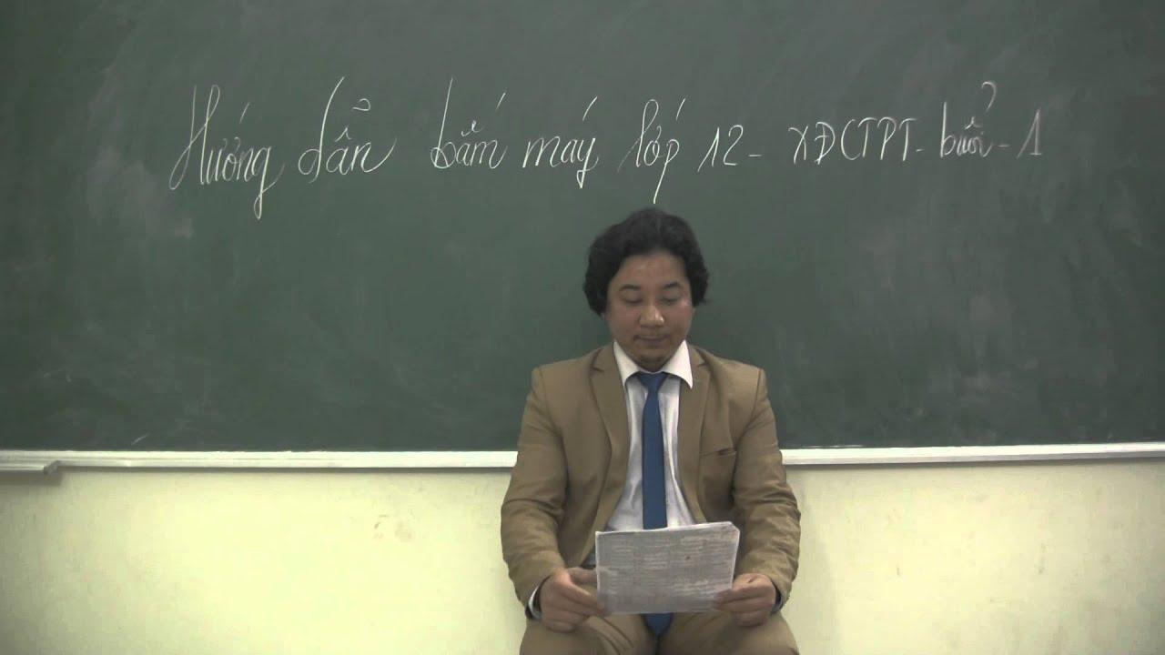 Thầy Thiết Cadic hướng dẫn bấm máy tính môn hóa 12 buổi 1