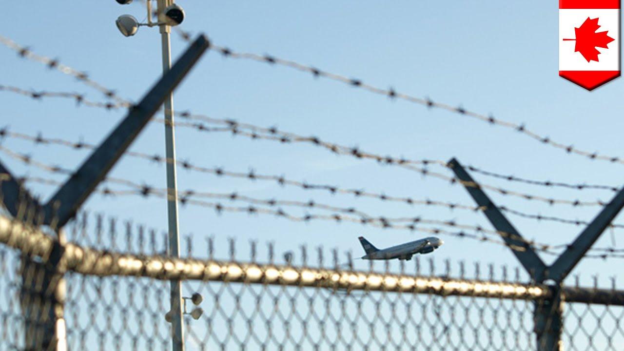 Canadian airport security breach: Nova Scotia woman climbs barbed ...