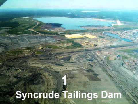 first largest dam in the world (Syncrude Tailings Dam)