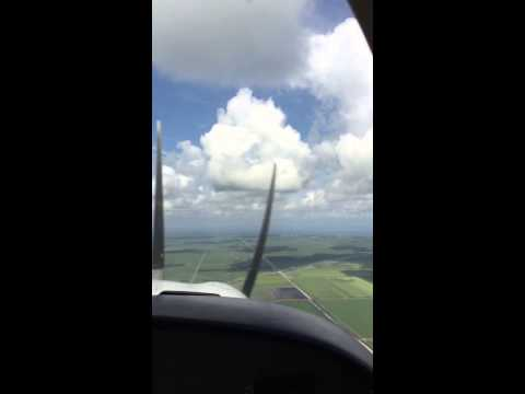 Pilot Michael at cruise altitude Palm Beach County Florida