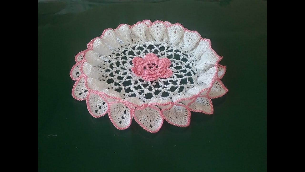 Салфетка объемная крючком/ Crochet napkin