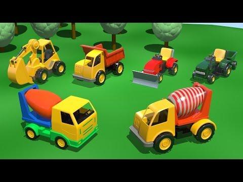Развивающие ультфильмы про машинки - БЕТОНОМЕШАЛКА на Детской Площадке - развивающий мультик