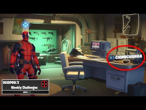 NEW DEADPOOL CHALLENGES IN FORTNITE! (WEEK 2 DEADPOOL)