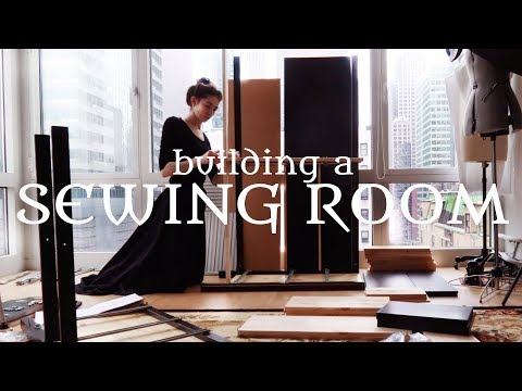 Turning My Apartment into a Cosy Sewing Space & Organizing Things || VLOG