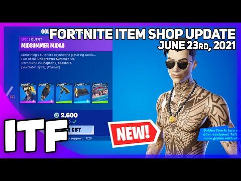 Fortnite Item Shop *NEW* SUMMER MIDAS SET! [June 23rd, 2021] (Fortnite Battle Royale)