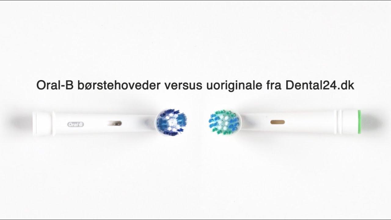 Rørig 4 stk. børstehoveder til Oral-B - DENTAL24 DN-17