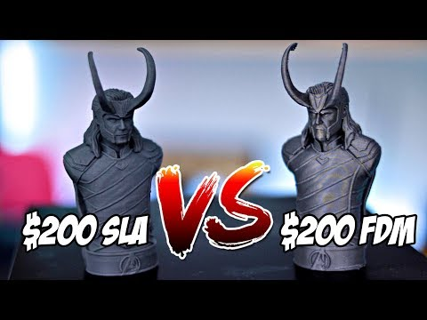 $200 Resin 3D Printer vs $200 FDM 3D Printer | Monoprice MP Mini SLA vs Creality Ender 3