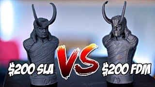 $200 Resin 3D Printer vs $200 FDM 3D Printer | Monoprice MP Mini SLA vs Creality Ender 3