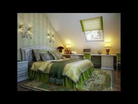 Спальная в мансарде. Мансарда - дизайн. Дизайн спальни в мансарде