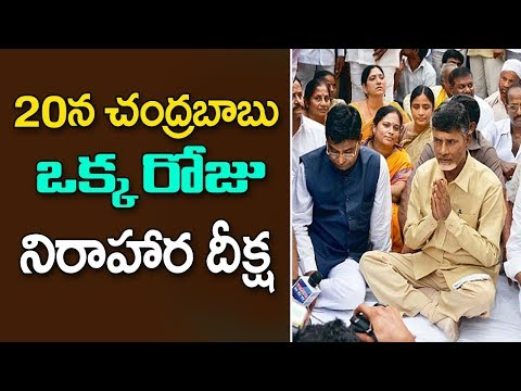 CM Chandrababu Naidu to Conduct One Day Hunger Strike against Centre