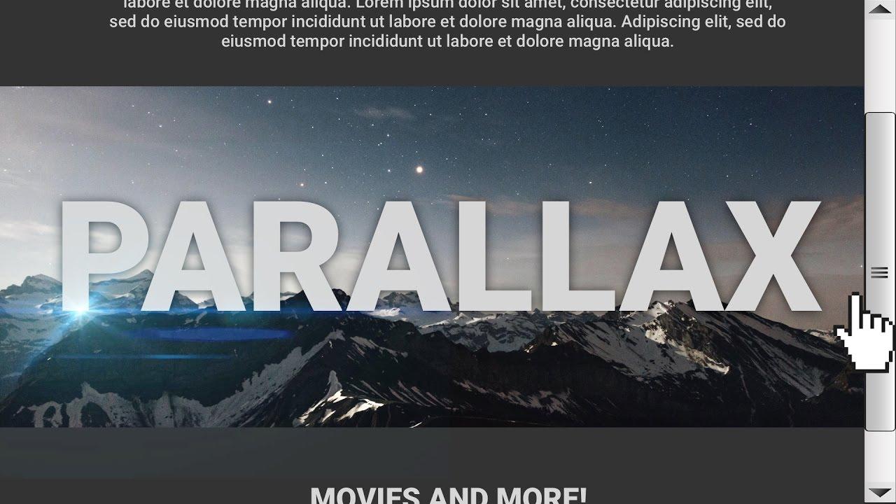 parallax websites