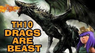 TH10 DRAGONS ARE BEAST-CLASH OF CLANS-TH10