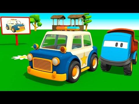 Мультфильм конструктор: Грузовичок Лева и Полицейская Машина - мультики для малышей про машинки