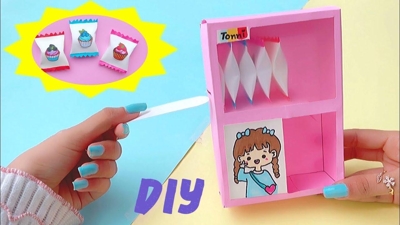 DIY cute paper chocolate dispenser machine / diy paper chocolate /paper craft
