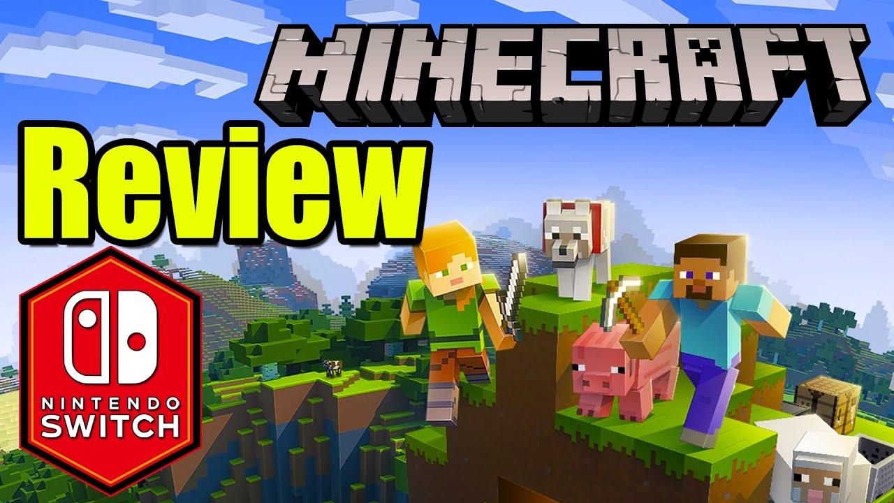 Minecraft Nintendo Switch Bedrock Gameplay Review: Crossplay Aquatic Update