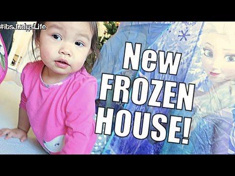 NEW FROZEN HOUSE- January 01, 2015 ItsJudysLife Vlog