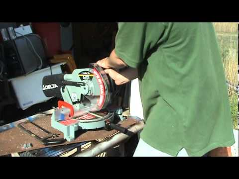 How to cut aluminum with a miter saw