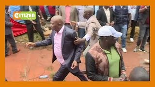 Drama in Kitui as Moses Kuria roughed up, ejected from BBI rally