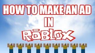Wie man einen AD macht - ROBLOX - 2015
