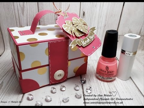 Beautiful Ladies style Vanity/Make-up Case using Stampin Up Products