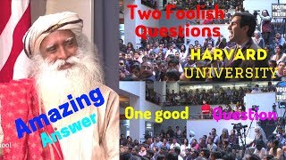 Sadhguru Guides Clueless Questioners at Harvard university