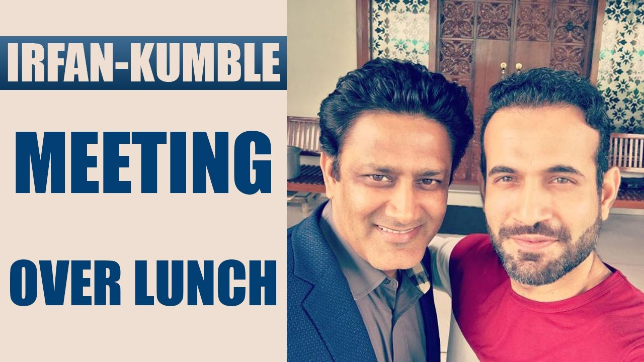 Irfan Pathan hosts Anil Kumble for lunch at home ...