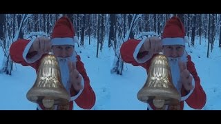 merry christmas 2017 santa claus in a winter forest 3d vr video google cardboard